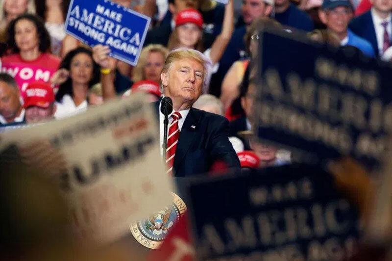 ترامپ مزاحمان بایدن را وطن پرست خواند