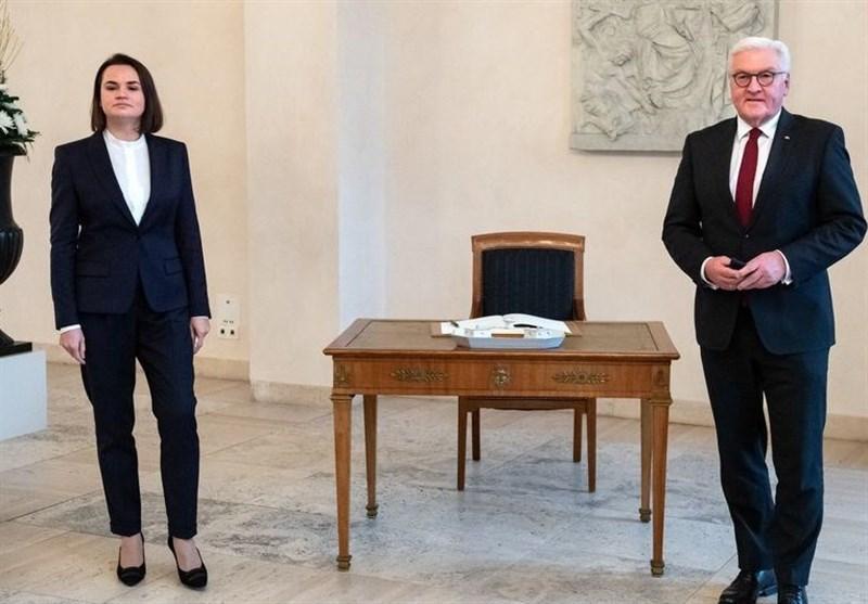 ملاقات رئیس جمهور آلمان با رهبر مخالفان بلاروس در برلین