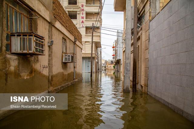 آبگرفتگی آذرماه، به چند خانه خوزستان آسیب زد؟