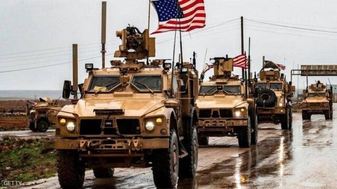 یک کاروان نظامی عظیم آمریکا وارد پایگاه عین الاسد شد