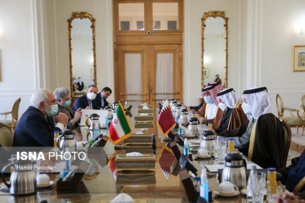 تاکید وزرای خارجه ایران و قطر بر لزوم همکاری کشورهای منطقه برای حل اختلافات