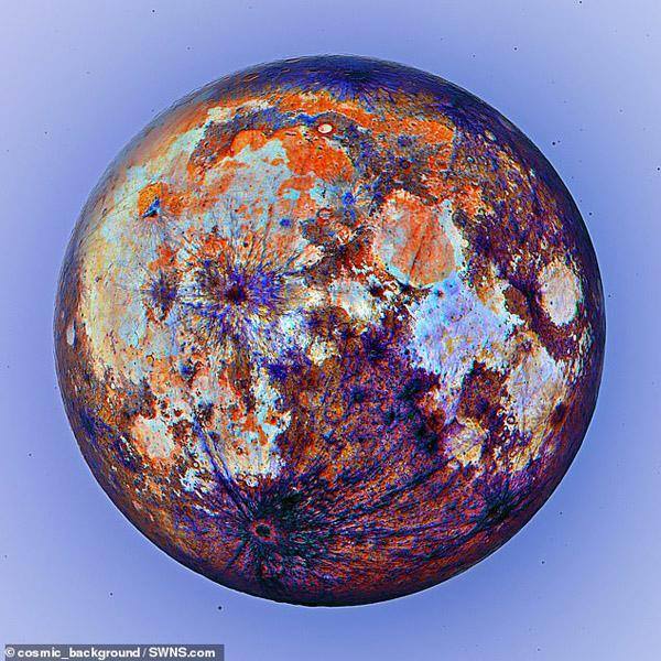 نمایی جدید و بی سابقه از ماه (تصاویر)