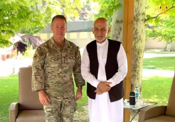 حمایت از نیروهای افغان، محور دیدار اشرف غنی با فرمانده نظامیان آمریکایی