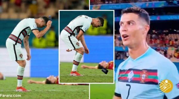 حرکت عجیب و زشت رونالدو پس از حذف از یورو 2020